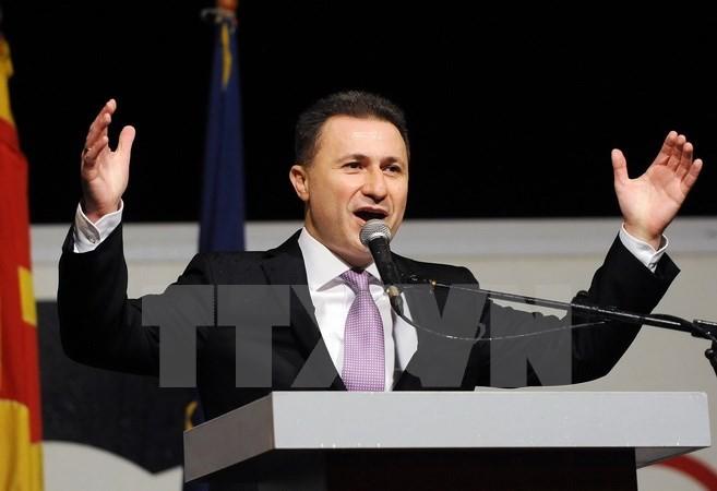 PM Macedonia meletakkan jabatan untuk membuka  jalan bagi pemilihan yang lebih dini - ảnh 1