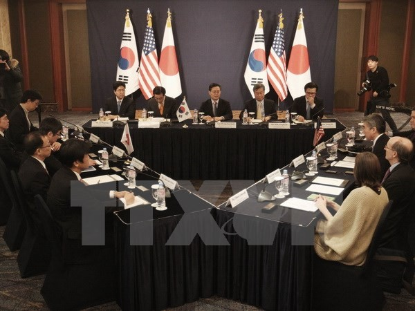 AS-Jepang-Republik Korea berseru supaya memberikan sanksi kuat terhadap  RDR Korea setelah  kasus uji bom H - ảnh 1