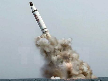 Jepang-AS-Republik Korea sepakat mendorong satu resolusi keras dari DK PBB terhadap RDR Korea - ảnh 1