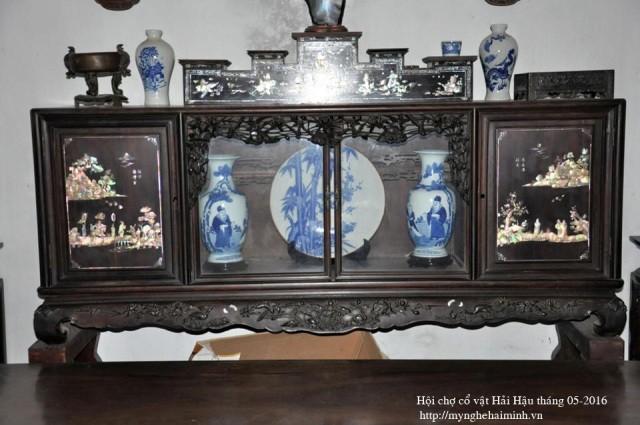 Datang ke kecamatan Hai Minh - tempat untuk membuat produk-produk  dari kayu dibuat seperti barang-barang antik tiruan - ảnh 5