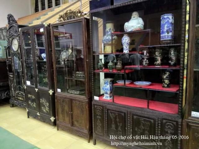 Datang ke kecamatan Hai Minh - tempat untuk membuat produk-produk  dari kayu dibuat seperti barang-barang antik tiruan - ảnh 6