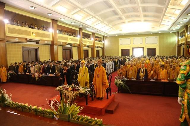 Upacara mega peringatan ultah ke-35  berdirinya Sangha Buddha Vietnam - ảnh 1