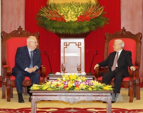 Sekjen  KS PKV, Nguyen Phu Trong  menerima Presiden Israel, Reuven Ruvi Rivlin - ảnh 1