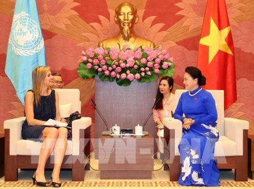 Ketua MN Vietnam, Nguyen Thi Kim Ngan  menerima Ratu Kerajaan Belanda, Maxima - ảnh 1