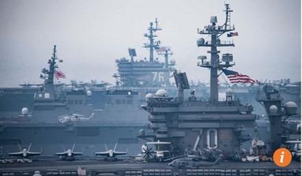 Jepang dan AS melakukan latihan perang di  perairan Jepang - ảnh 1