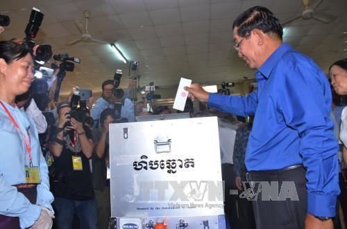 Kamboja memulai pemilu Dewan kecamatan - ảnh 1