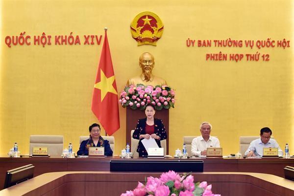 Pembukaan persidangan ke-12 Komite Tetap MN Vietnam angkatan XIV - ảnh 1