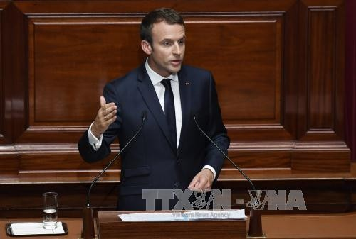 """Presiden Perancis, Emmanuel Macron menegaskan hubungan Perancis-AS """"tak  bisa dipecah-belah"""" - ảnh 1"""