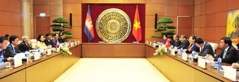 Meningkatkan hasil-guna kerjasama antara Parlemen dua negara Vietnam dan Kamboja - ảnh 1