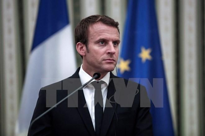 Presiden  Perancis, Emmanuel  Macron berkunjung di Yunani  dan mengumumkan visi-nya  tentang masa depan Uni Eropa - ảnh 1