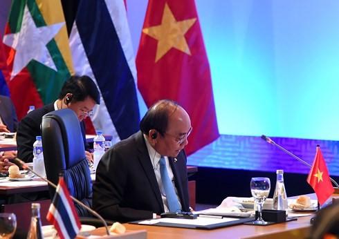 PM Vietnam, Nguyen Xuan Phuc menghadiri KTT Mekong-Jepang yang  ke-9 dan KTT ASEAN-PBB - ảnh 1