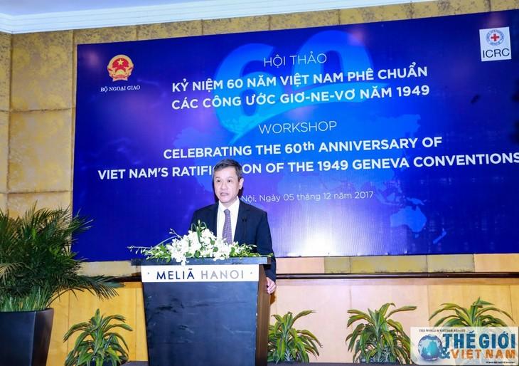 Vietnam mendorong  pelaksanaan Konvensi-Konvensi  Jenewa  tentang Undang-Undang Kemanusiaan Internasional - ảnh 1