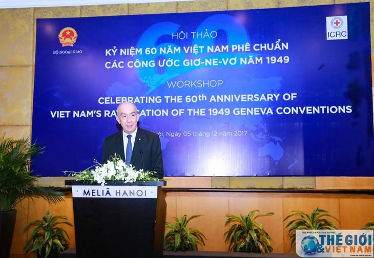Vietnam mendorong  pelaksanaan Konvensi-Konvensi  Jenewa  tentang Undang-Undang Kemanusiaan Internasional - ảnh 2