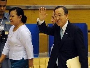 国連事務総長とミャンマー大統領の会談 - ảnh 1