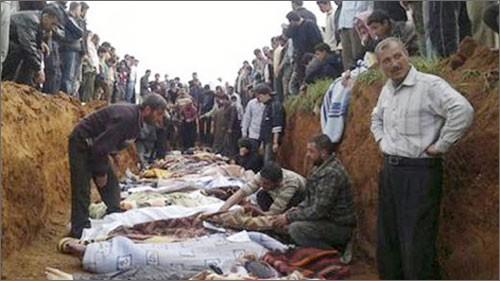 シリアでの虐殺事件を巡る問題 - ảnh 1