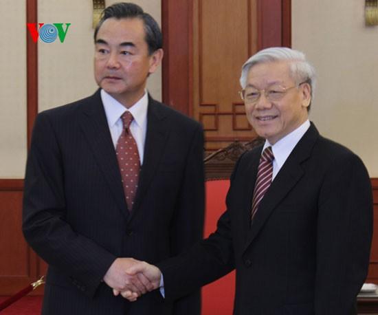 チョン書記長、中国外相と会見 - ảnh 1