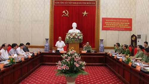 フン国会議長、中央公安党委と会合 - ảnh 1