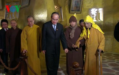 ニャン議長、仏教協会指導者にテトの挨拶 - ảnh 1