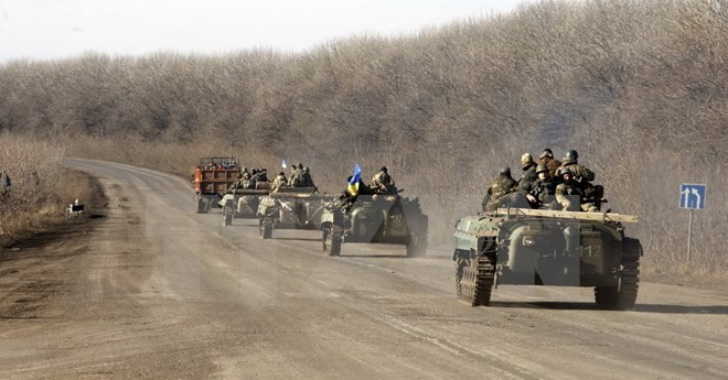ウクライナ政府軍 重火器撤去開始と発表 - ảnh 1
