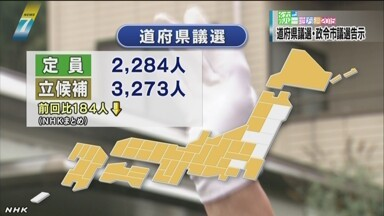 日本の統一地方選 告示 - ảnh 1