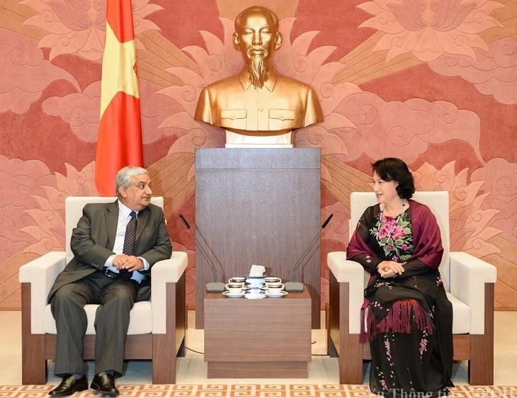 ガン国会副議長、ネパール代表団と会見 - ảnh 1