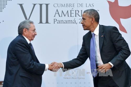 米・キューバ首脳 一層の関係正常化へ協力確認 - ảnh 1