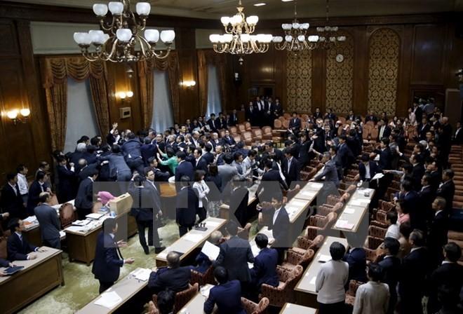 安全保障関連法 日本参院本会議で可決・成立 - ảnh 1
