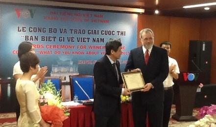 VOV、ベトナムに関するクイズコンクールの授賞式を - ảnh 2