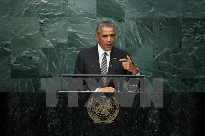 オバマ氏、外交の成果強調も限界露呈…国連演説 - ảnh 1
