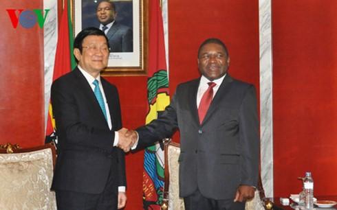 サン国家主席、モザンビーク大統領と会談 - ảnh 1