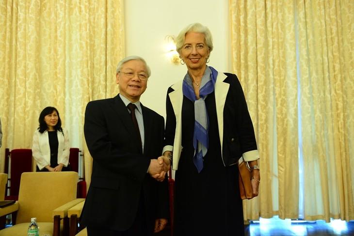 チョン書記長、IMF専務理事を会見 - ảnh 1