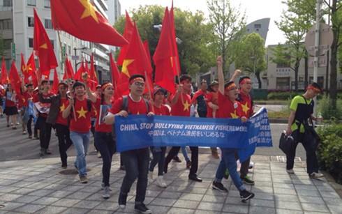 日本在留ベトナム人、再び中国に抗議 - ảnh 1