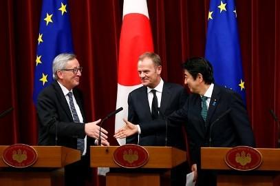 日・EU首脳、年内の早期にEPA大筋合意めざす - ảnh 1
