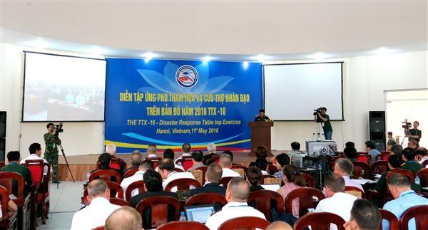 ベトナム、災害図上訓練を開催 - ảnh 1