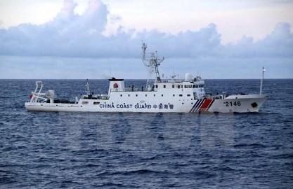 中国海警局船4隻 尖閣沖の接続水域を航行 - ảnh 1
