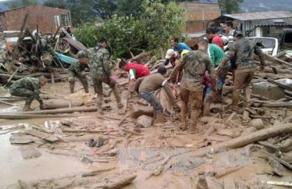コロンビアの土砂崩れ、死者200人超 災害緊急事態を宣言 - ảnh 1