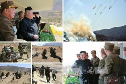 朝鮮 大規模な軍事パレード準備=韓国情報当局 - ảnh 1