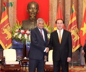 クアン国家主席 スリランカ首相と会見 - ảnh 1