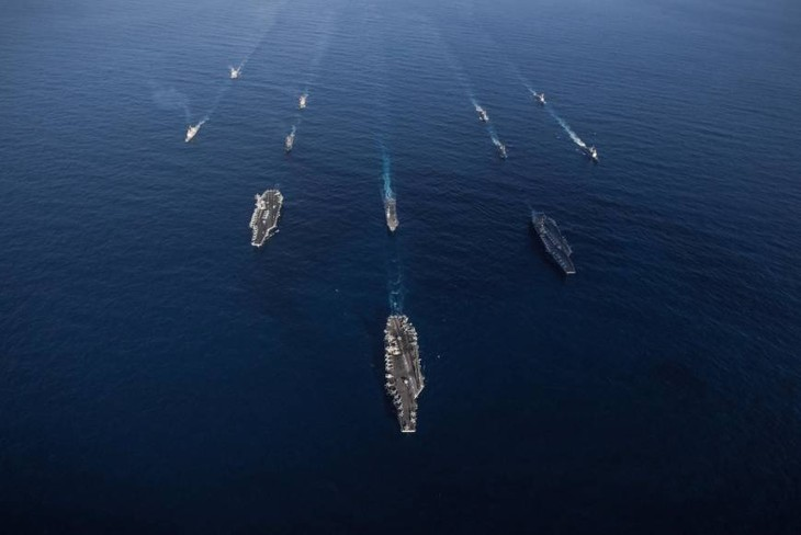 米空母3隻が日本海で演習開始、海自と共同訓練へ - ảnh 1