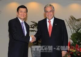 Presiden Vietnam Truong Tan Sang menerima Presiden Cile Sebastian Pinera Echenique. - ảnh 1