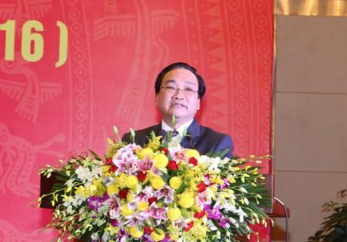 Deputi PM Hoang Trung Hai menghadiri upacara peringatan ulang tahun ke 55 Hari Jadinya Institut Perancangan Irigasi  - ảnh 1