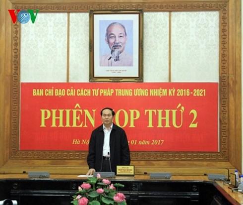 Presiden Tran Dai Quang memimpin sidang ke-2 Badan Pengarahan Reformasi Hukum Pusat - ảnh 1