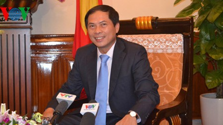 Deputi Menlu Bui Thanh Son melakukan pertemuan dengan Sekretaris Negara Kemlu India, Vijay Kumar Singh - ảnh 1