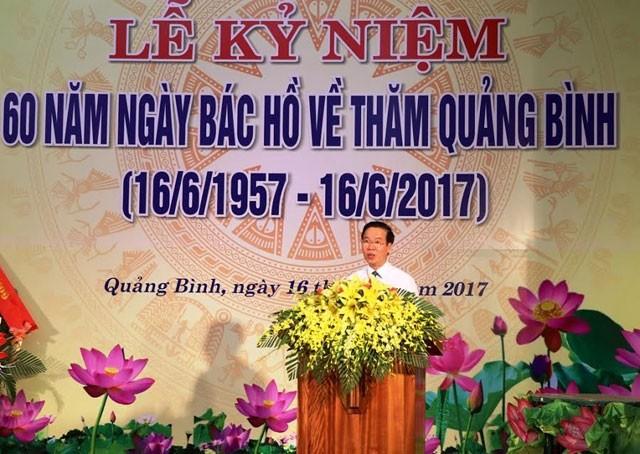 Memperingati ulang tahun ke-60 hari Presiden Ho Chi Minh mengunjungi provinsi Quang Binh - ảnh 1