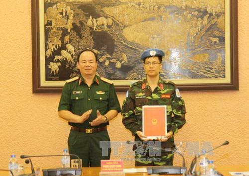 Tambah lagi 3 perwira Vietnam yang  ikut menjalankan tugas menjaga perdamaian PBB - ảnh 1