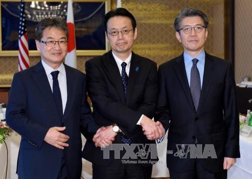 AS, Jepang dan Republik Korea sepakat mendorong resolusi sanksi yang lebih keras terhadap RDRK - ảnh 1