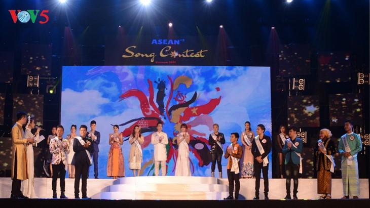 "Sepuluh kontestan masuk final kontes ""Nyanyian ASEAN plus 3"" - ảnh 1"