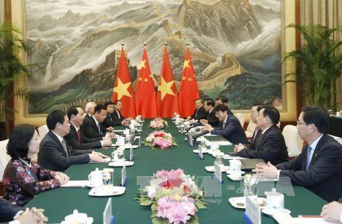 Avanzan relaciones de asociación estratégica Vietnam-China - ảnh 1