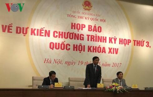 Parlamento vietnamita se prepara para su tercer período de sesiones - ảnh 1