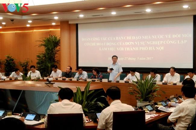 Hanoi obtiene frutos en renovación de organismos estatales - ảnh 1